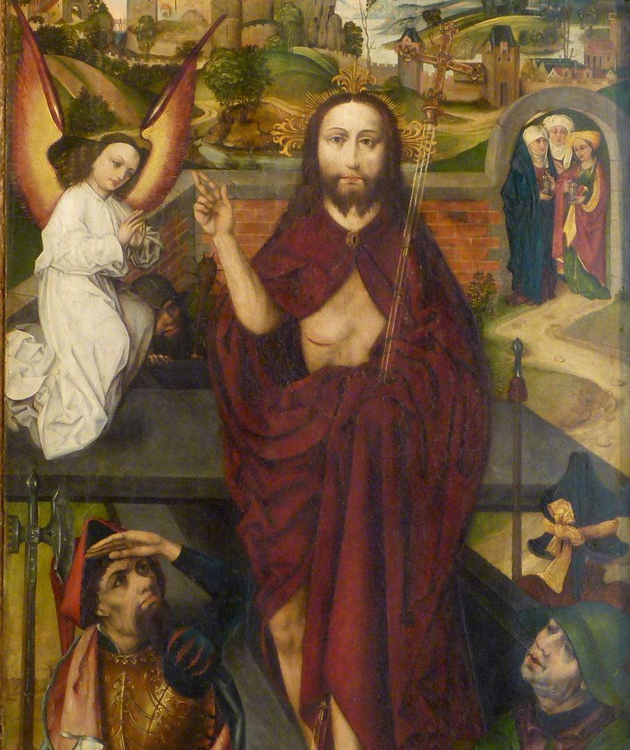 Peringsdörfer Altar Retabel im geöffneten Zustand, rechter Flügel: Auferstandener, Detail