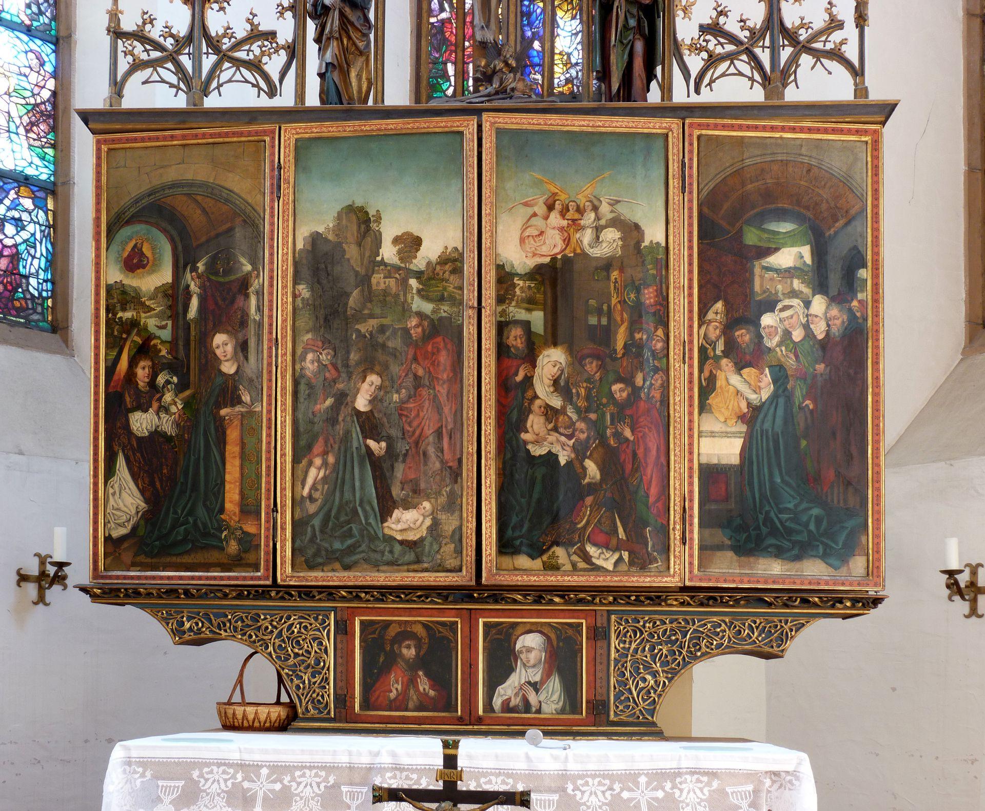 Peringsdörfer Altar Retabel im geschlossenen Zustand mit Körper und Predella
