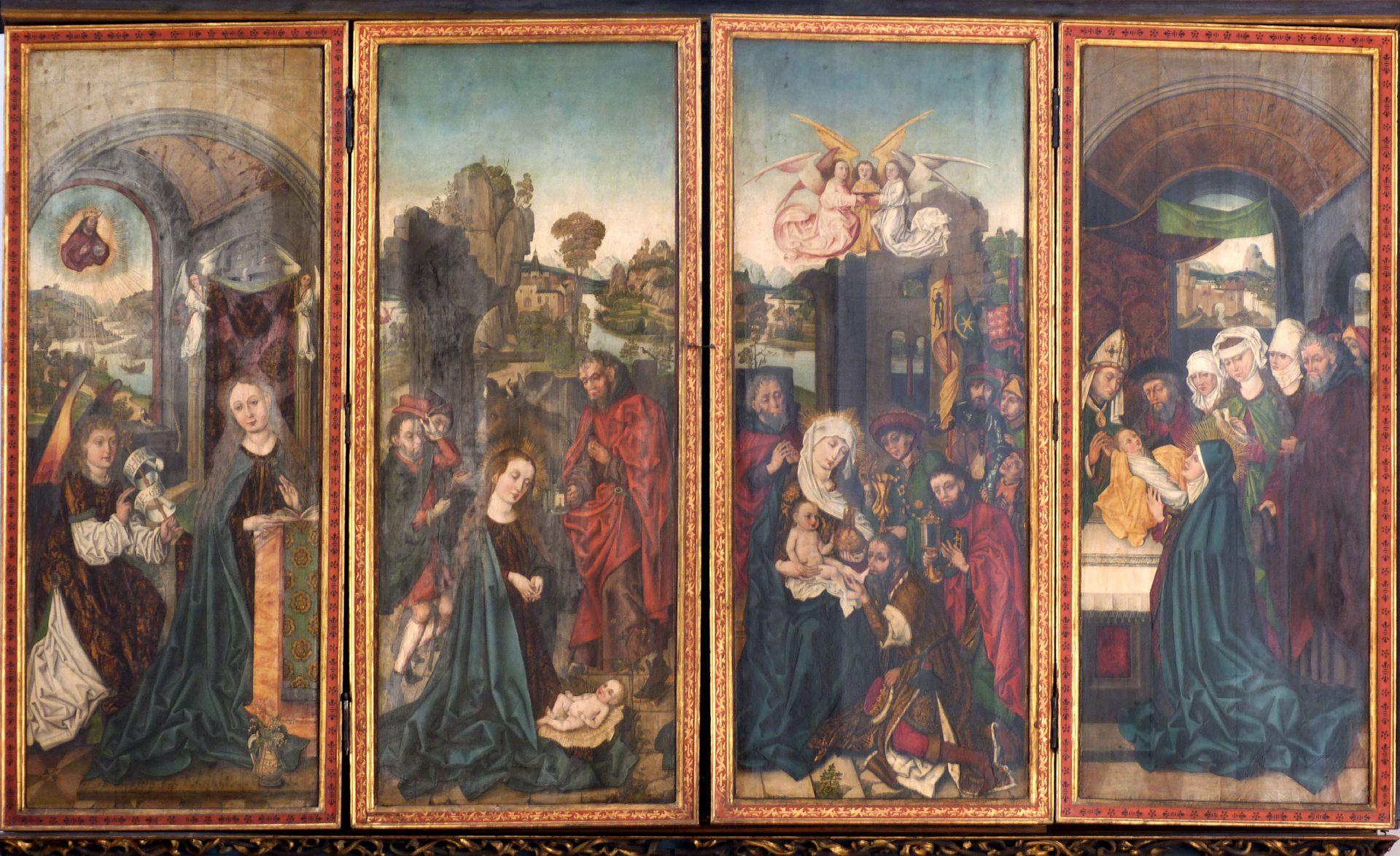 Peringsdörfer Altar Retabel im geschlossenen Zustand, Körper