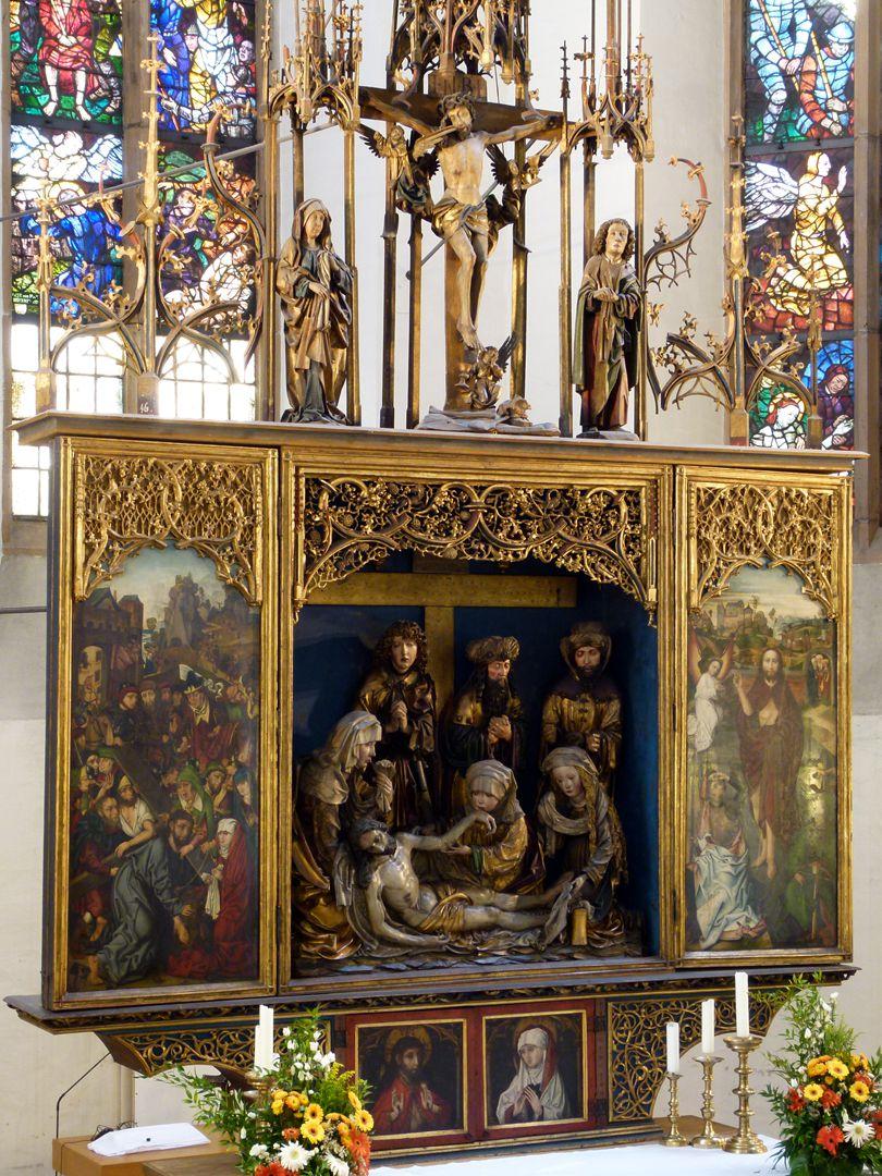 Peringsdörfer Altar Retabel, Schrägansicht