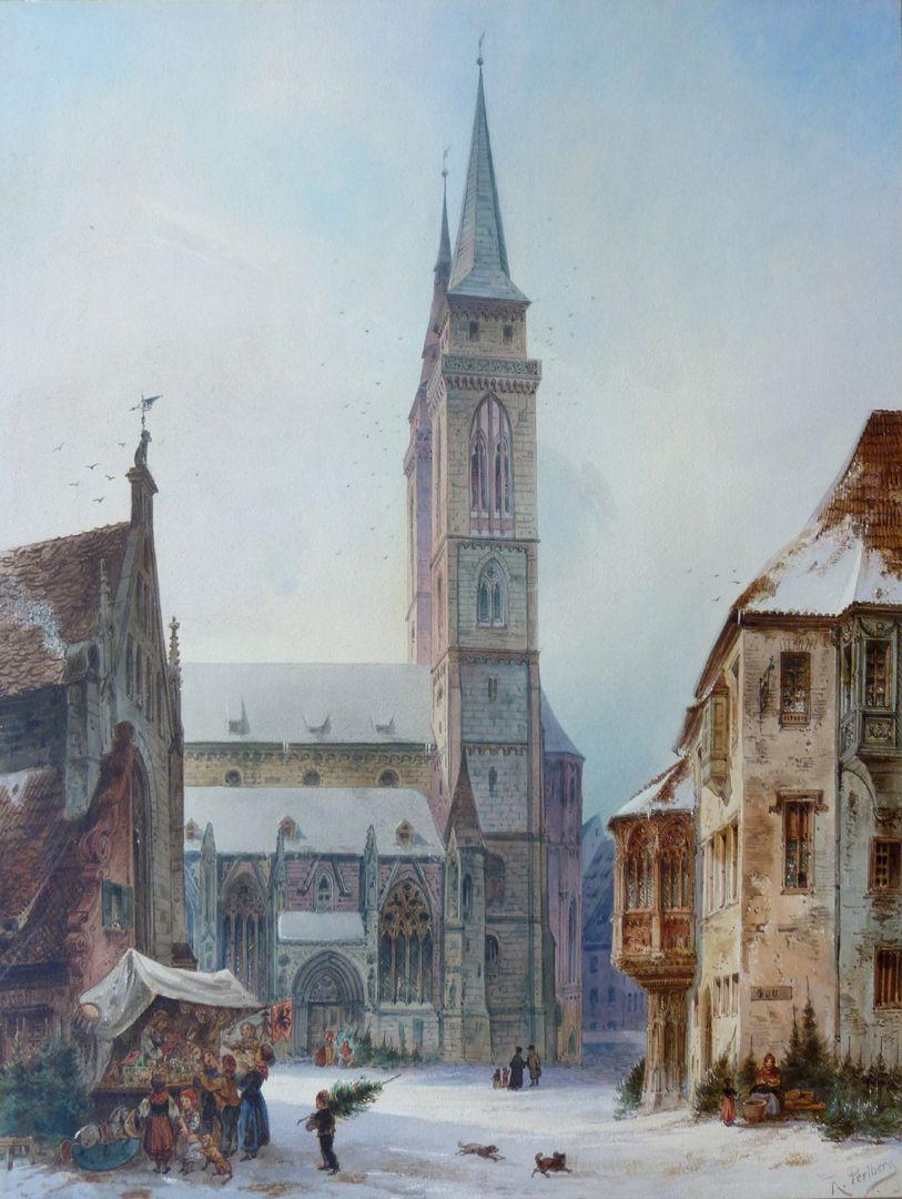 St. Sebald mit Moritzkapelle und Pfarrhof Gesamtansicht