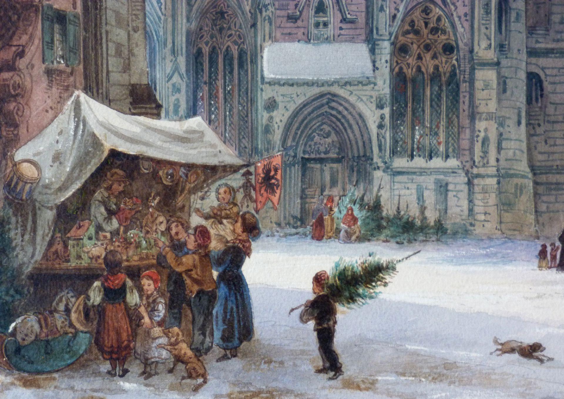St. Sebald mit Moritzkapelle und Pfarrhof Weihnachtsbude