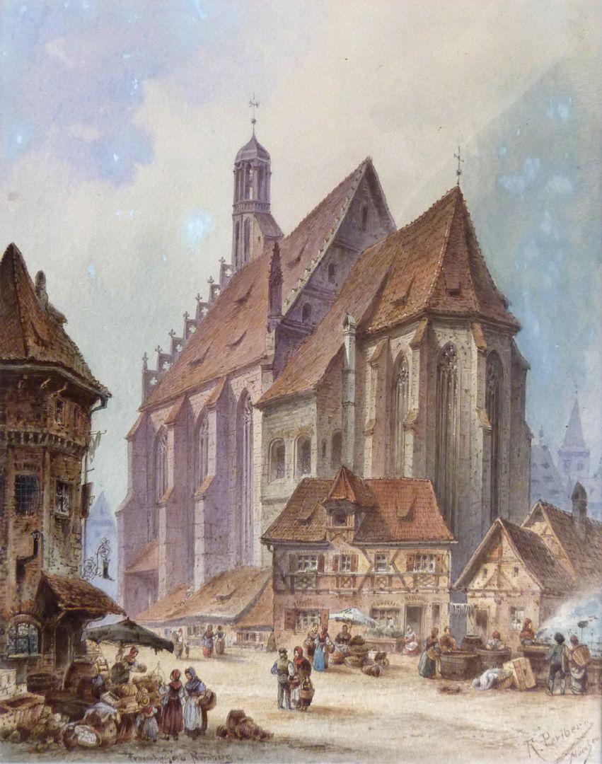 Frauenkirche mit Obstmarkt Gesamtansicht