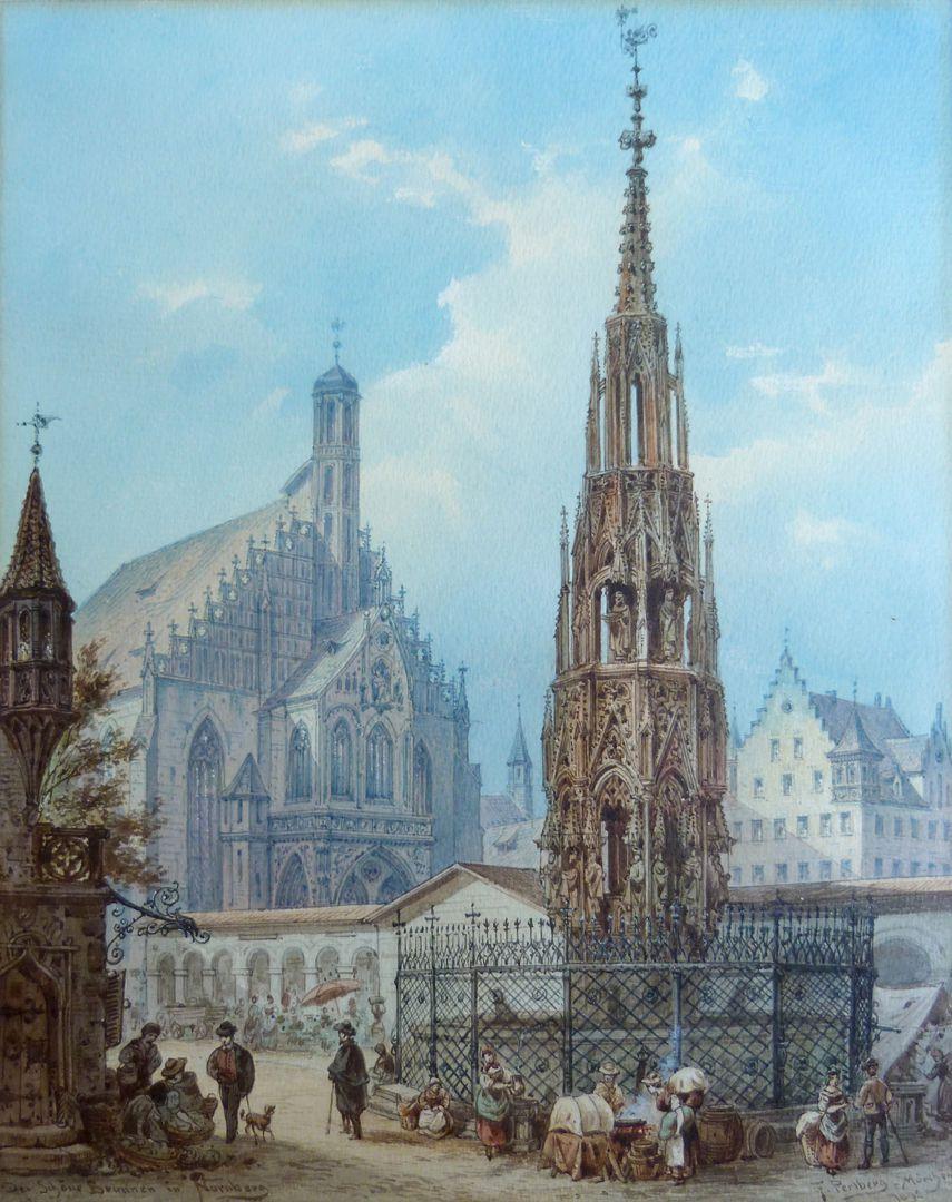 Der Schöne Brunnen in Nürnberg Gesamtansicht