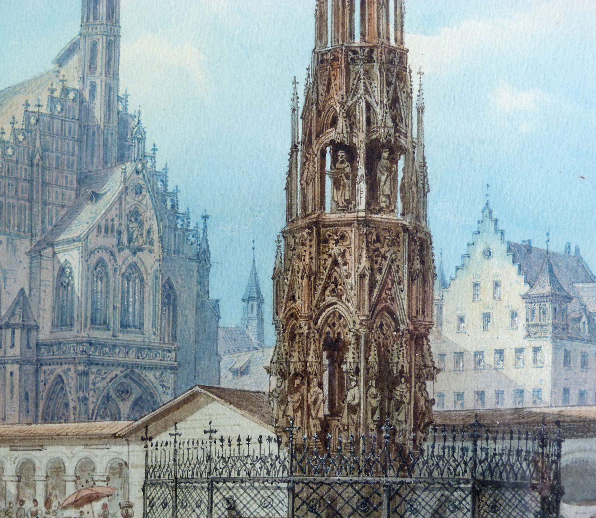 Der Schöne Brunnen in Nürnberg Mittelteil