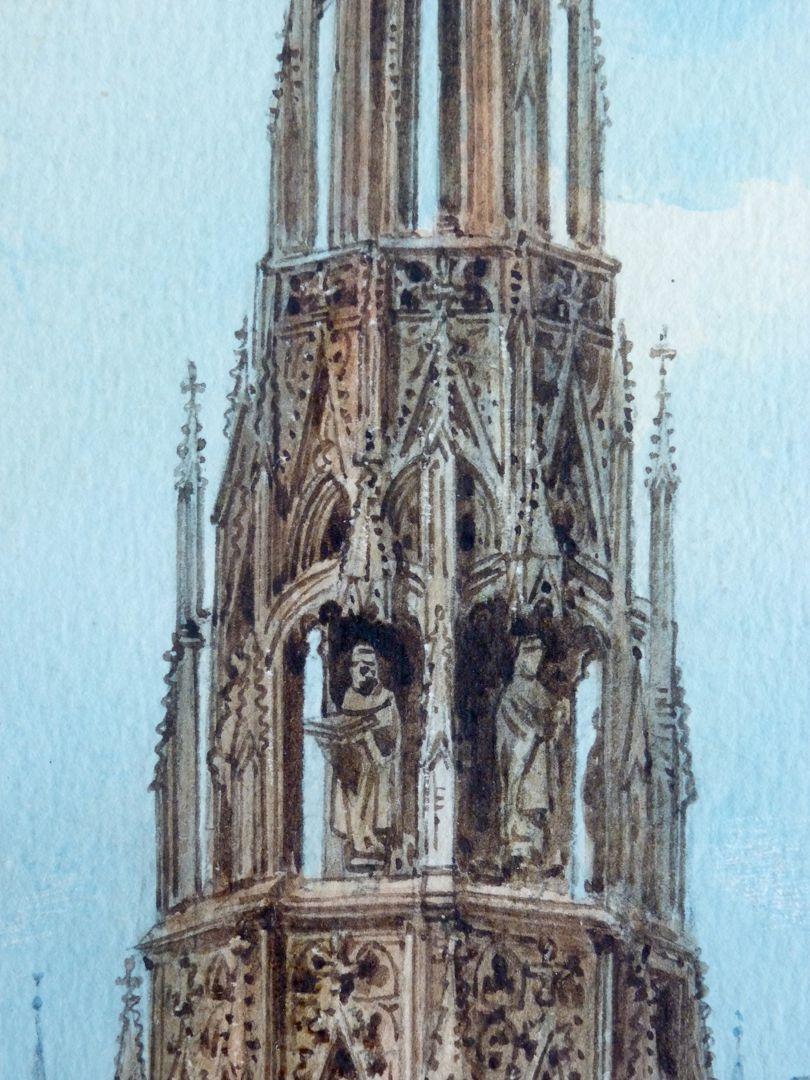 Der Schöne Brunnen in Nürnberg Detail