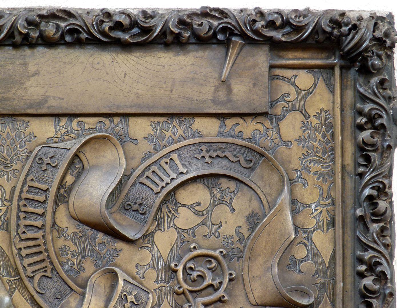 Johannes von Hürnheim und Albrecht von Rechenberg rechte ober Platten, verschiedene Materialtexturen