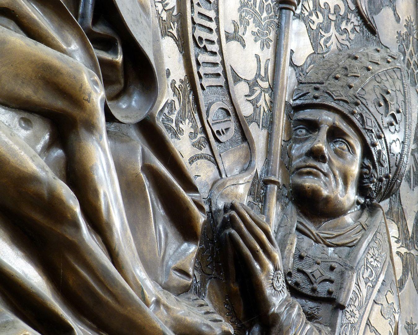 Johannes von Hürnheim und Albrecht von Rechenberg Albrecht von Rechberg, Schrägansicht, Detail