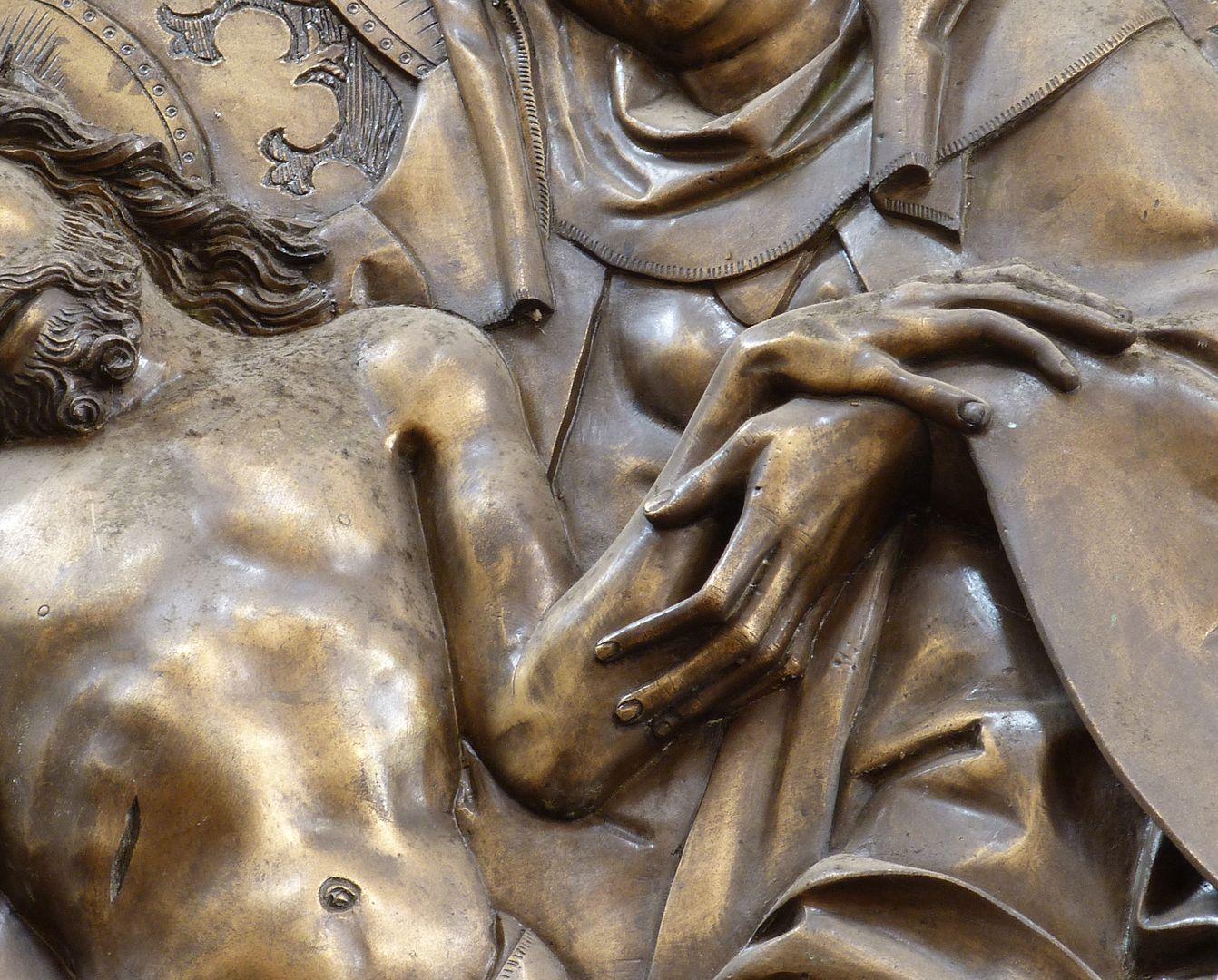 Johannes von Hürnheim und Albrecht von Rechenberg Hände von Maria und Christus