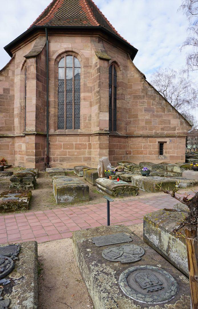 Peter Vischer Grabstätte Lage im Gräberfeld