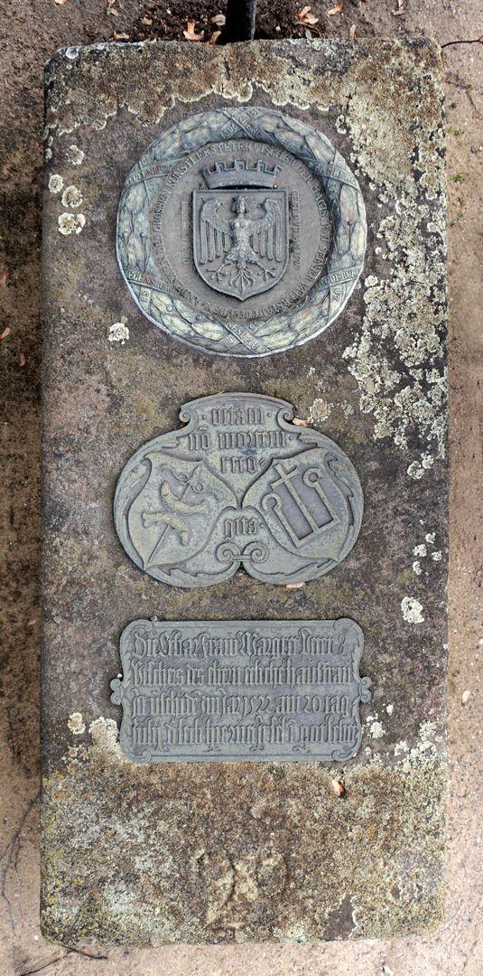 Peter Vischer Grabstätte Ansicht von oben