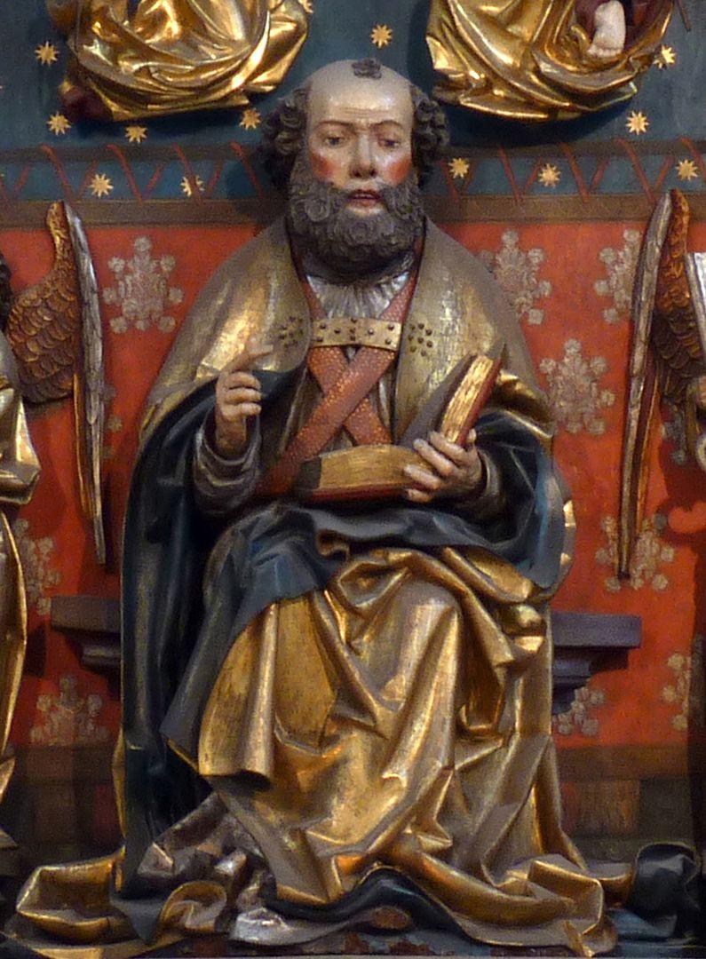 Petersaltar Schrein, sitzender Petrus
