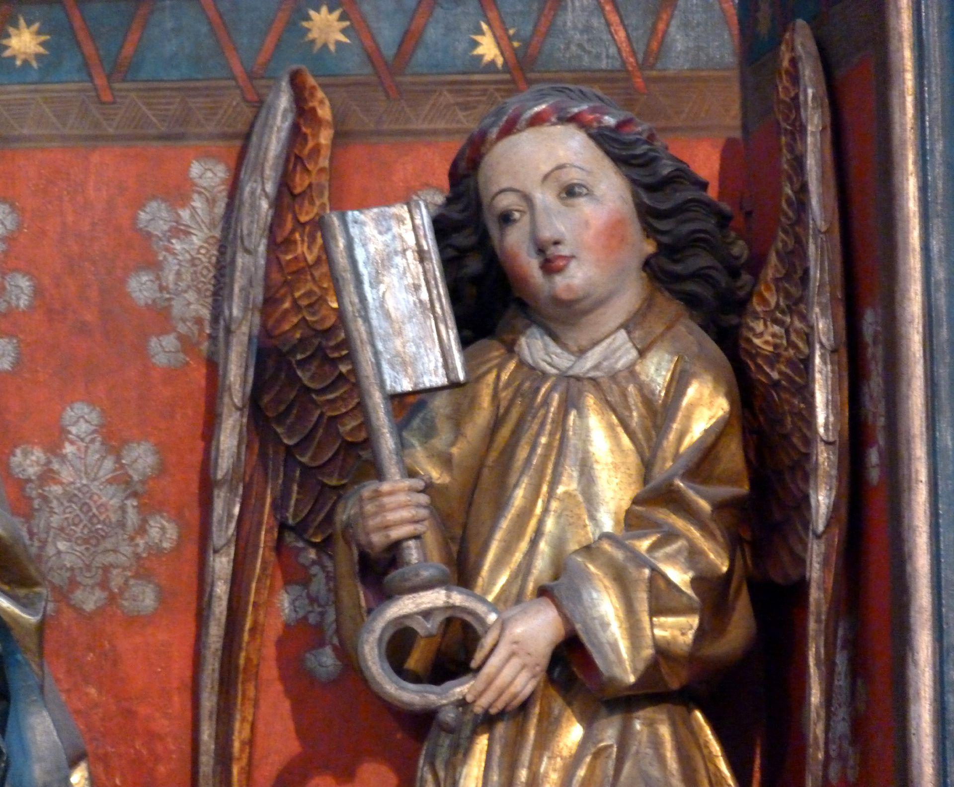Petersaltar Schrein, rechter Schlüsselengel
