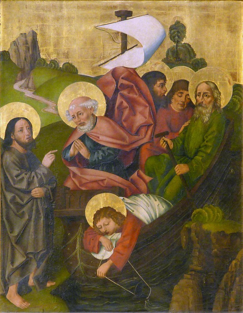 Petersaltar Schrein, rechter Flügel oben, Berufung Petri