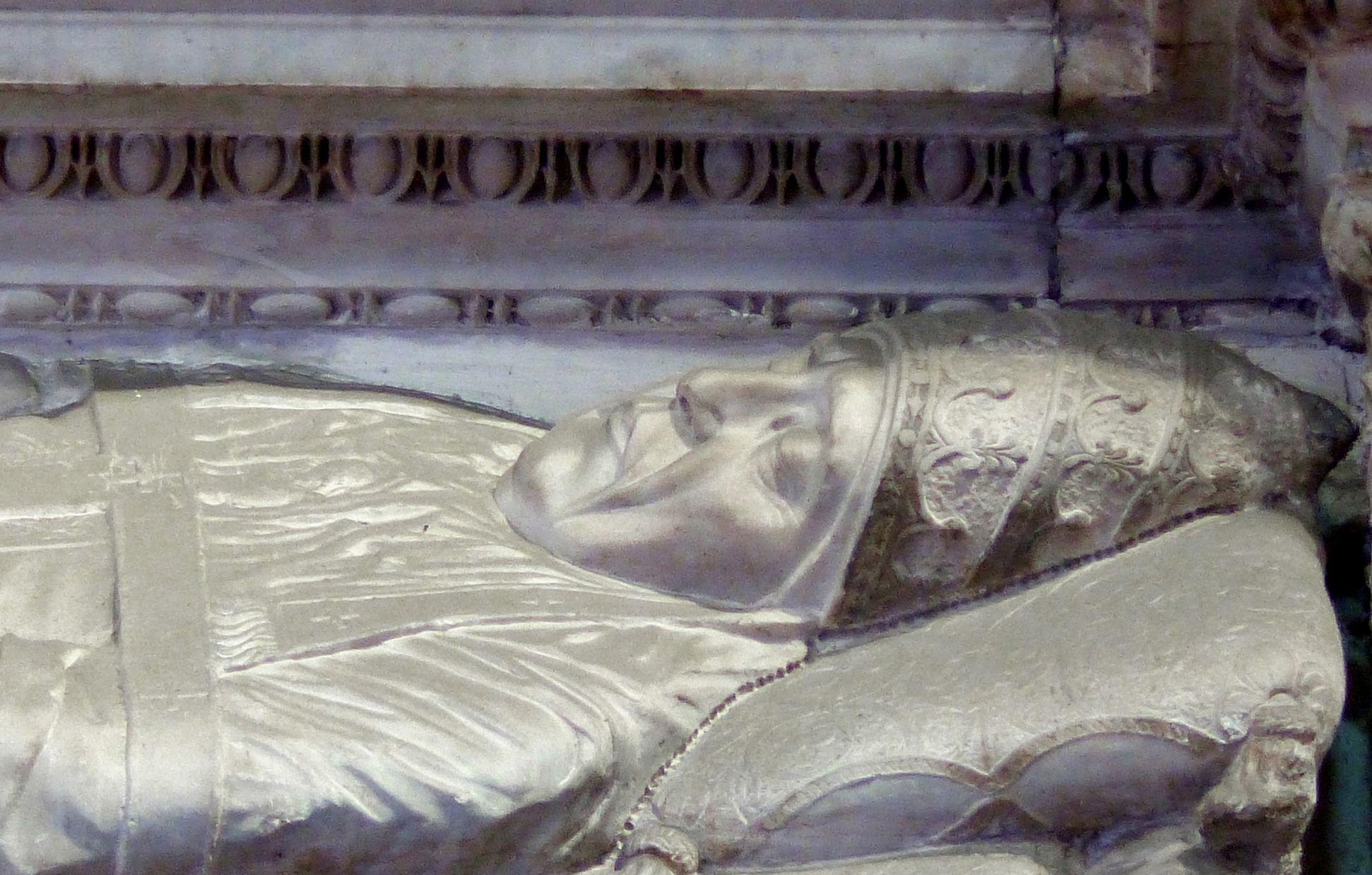 Grabmal Pius II. Portait des Verstorbenen
