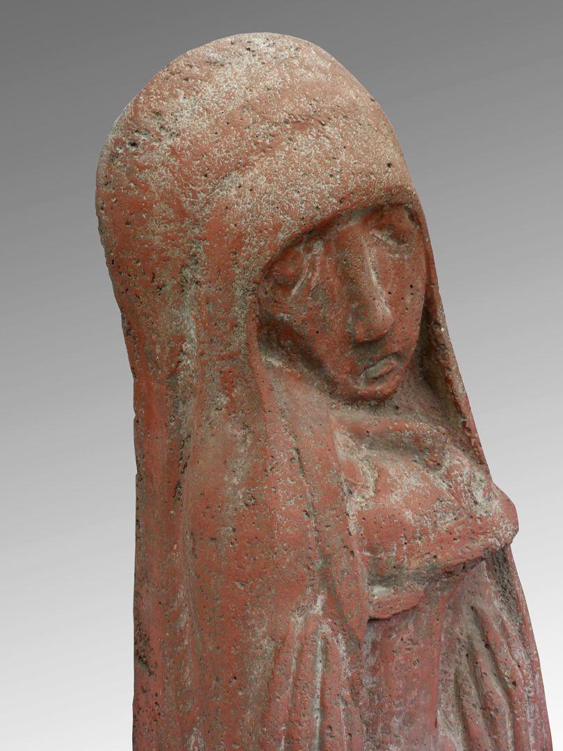 Pietà Köpfe von Maria und Jesus, linke seitliche Ansicht
