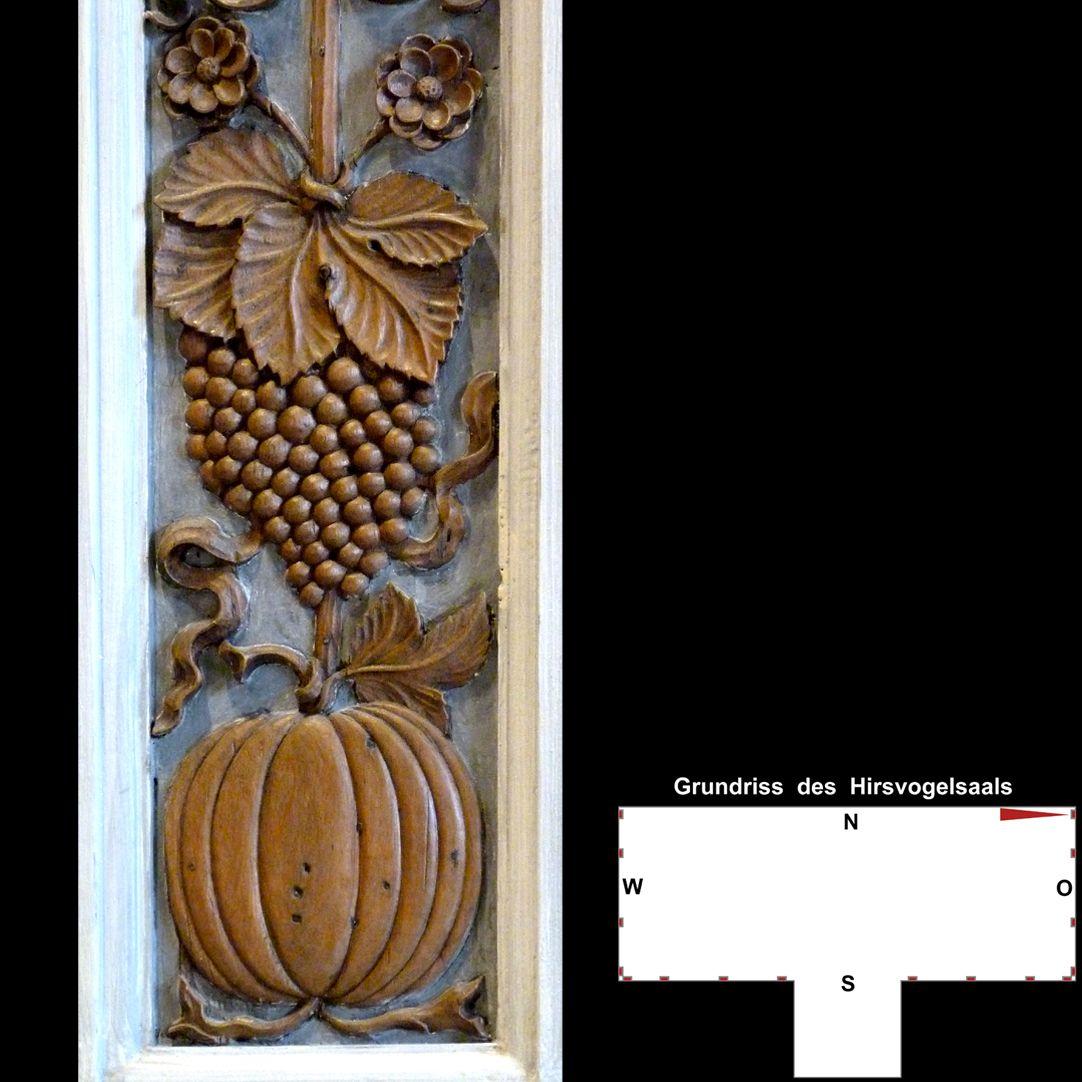 Pilasterabfolge im Hirsvogelsaal unterer Pilasterbereich