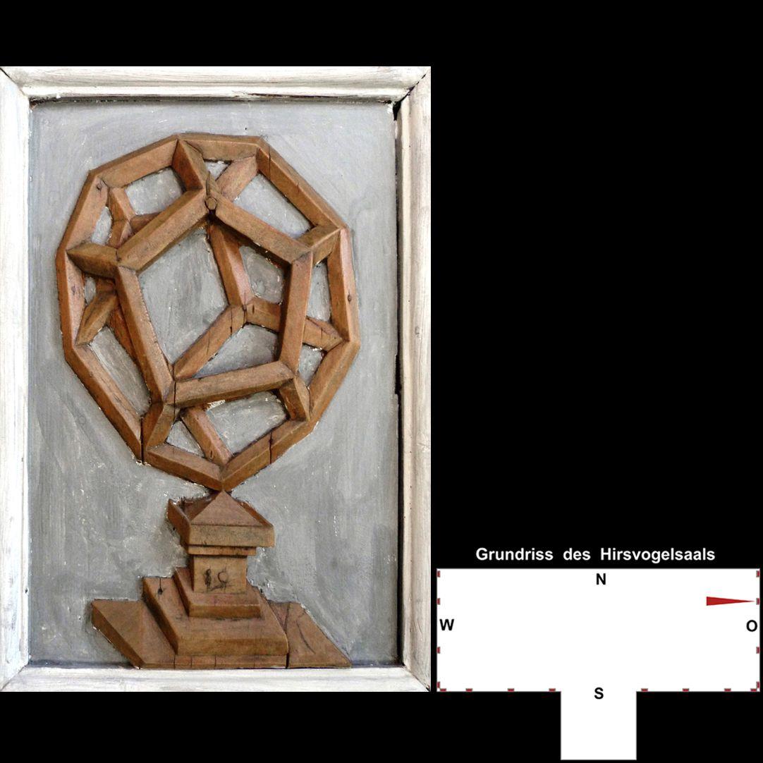 Pilasterabfolge im Hirsvogelsaal Postament mit Pentagondodekaeder