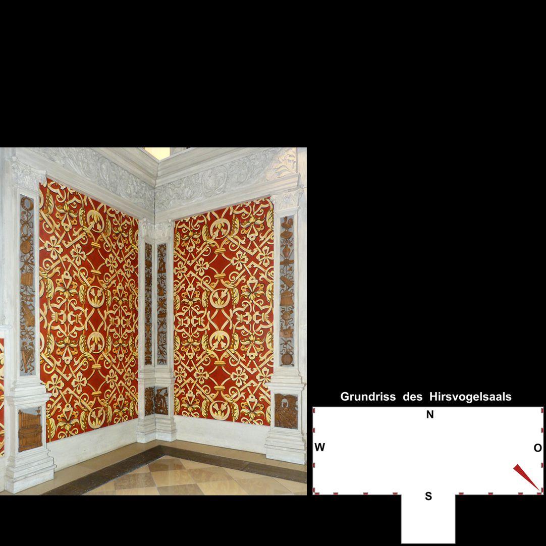 Pilasterabfolge im Hirsvogelsaal südöstliche Raumecke