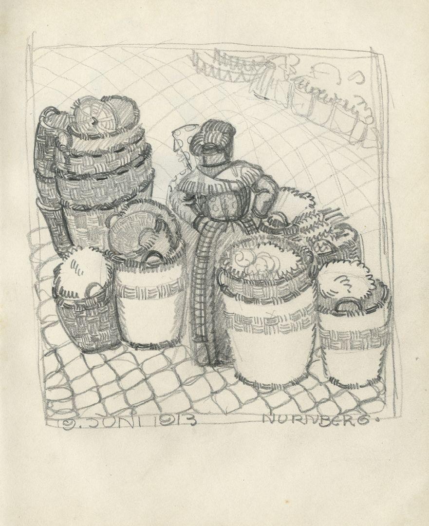 Skizzenbücher Marktszenen vom 19.06.1913