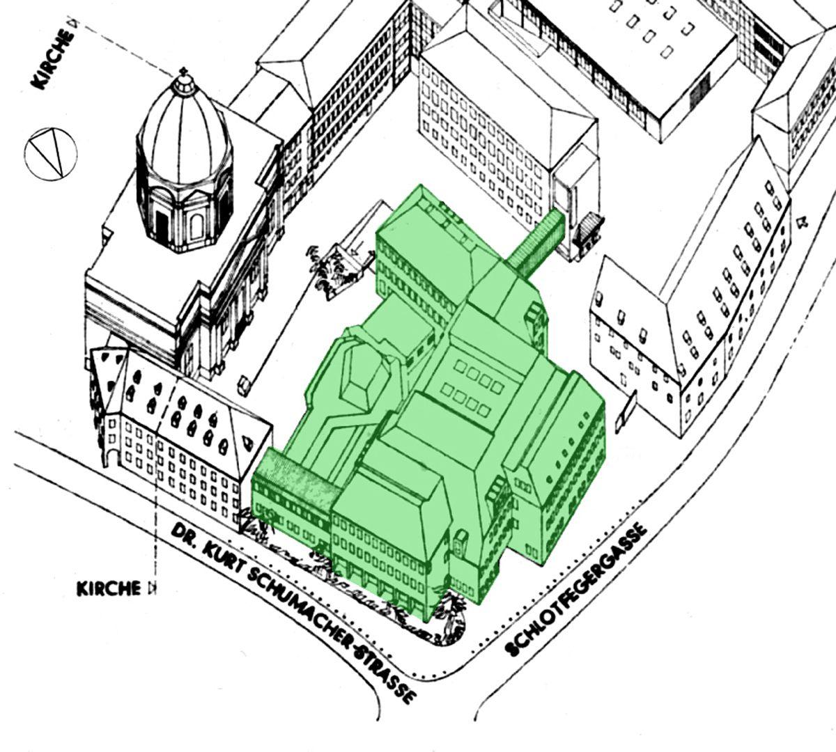 Erweiterungsbau des Polizeipräsidiums Bebauungsplan
