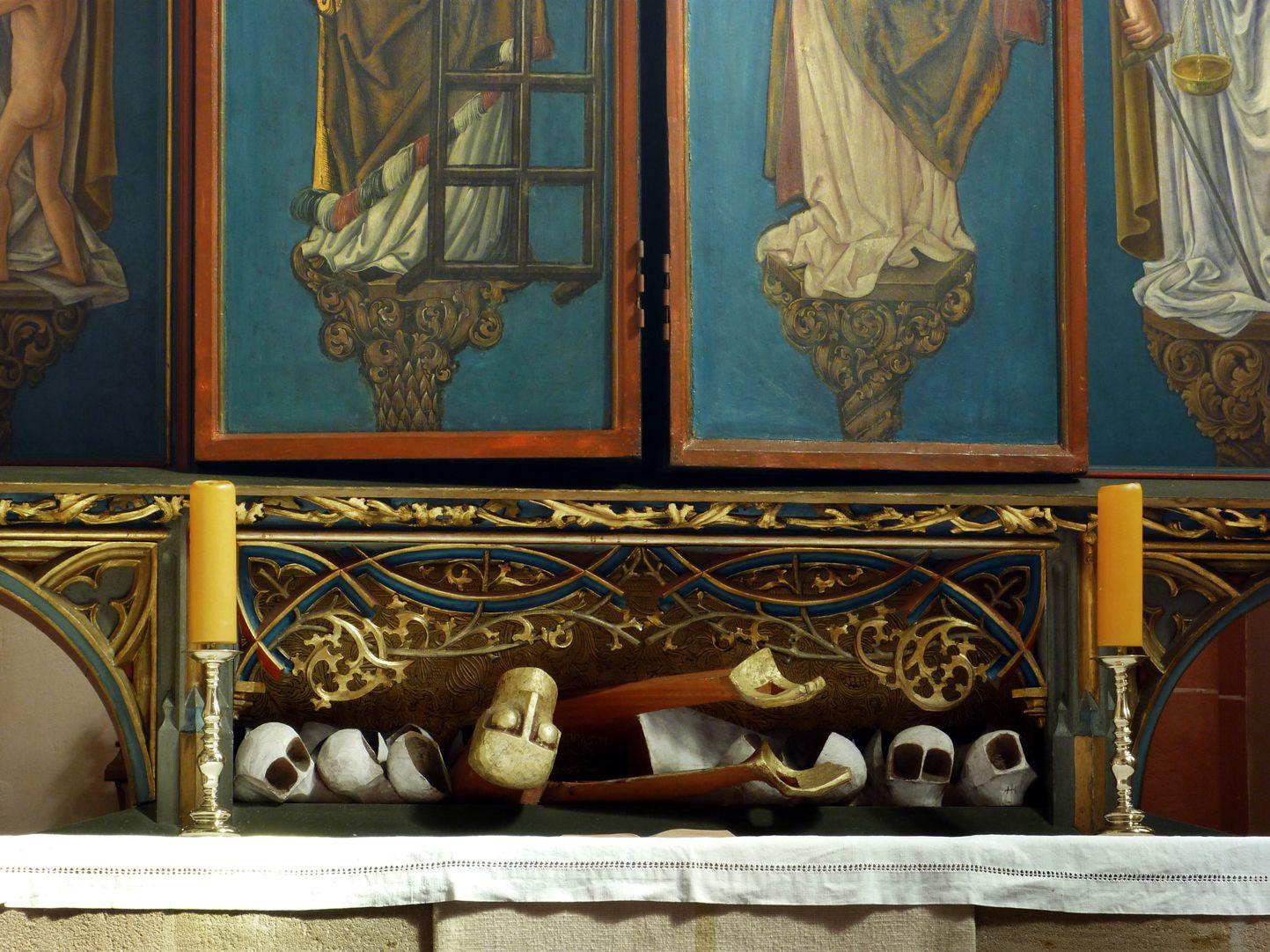 """""""... auferstanden von den Toten"""" Predella des Hauptaltars"""