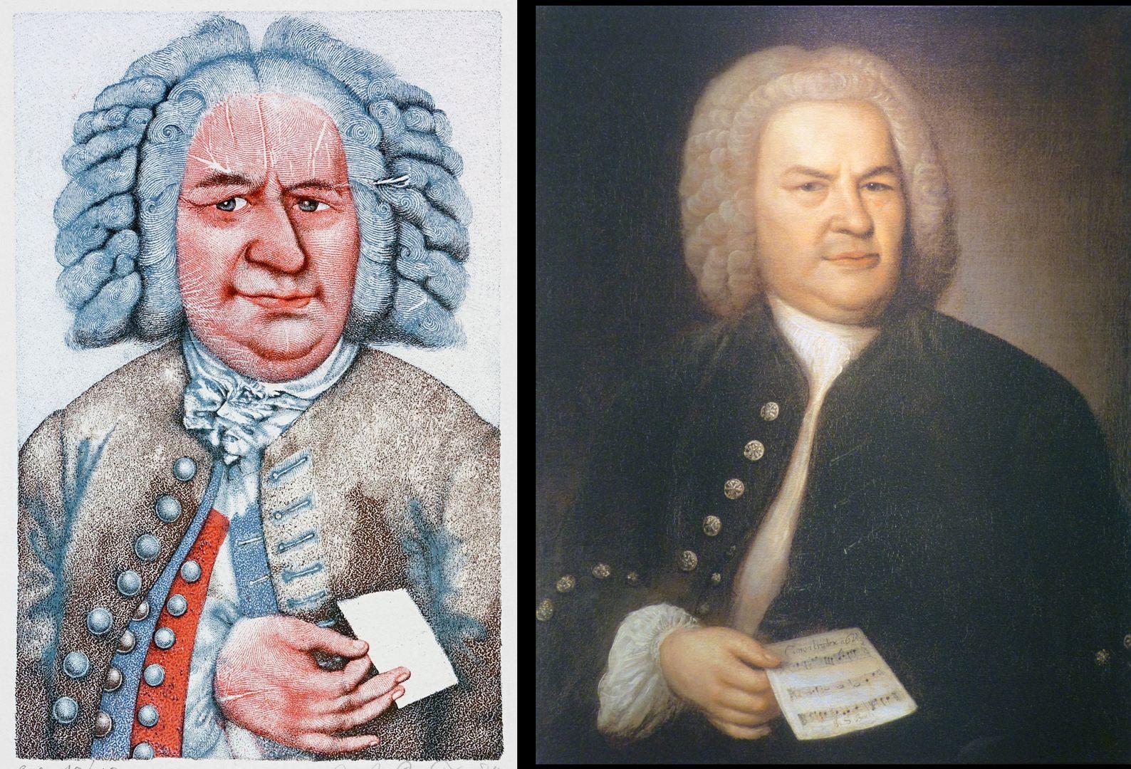 Johann Sebastian Bach Bach von Prechtl und sein Vorbild von Elias Gottlob Haußmann aus dem Jahre 1746