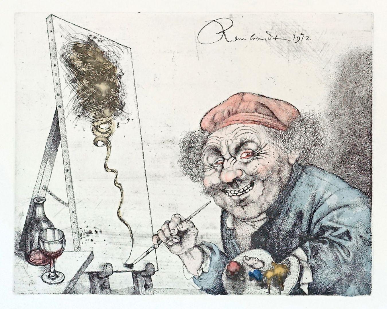 Rembrandt erfindet 1669 im volltrunkenen Zustand die informelle Malerei