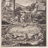 Emblematische Darstellung mit Nürnberger Ansicht
