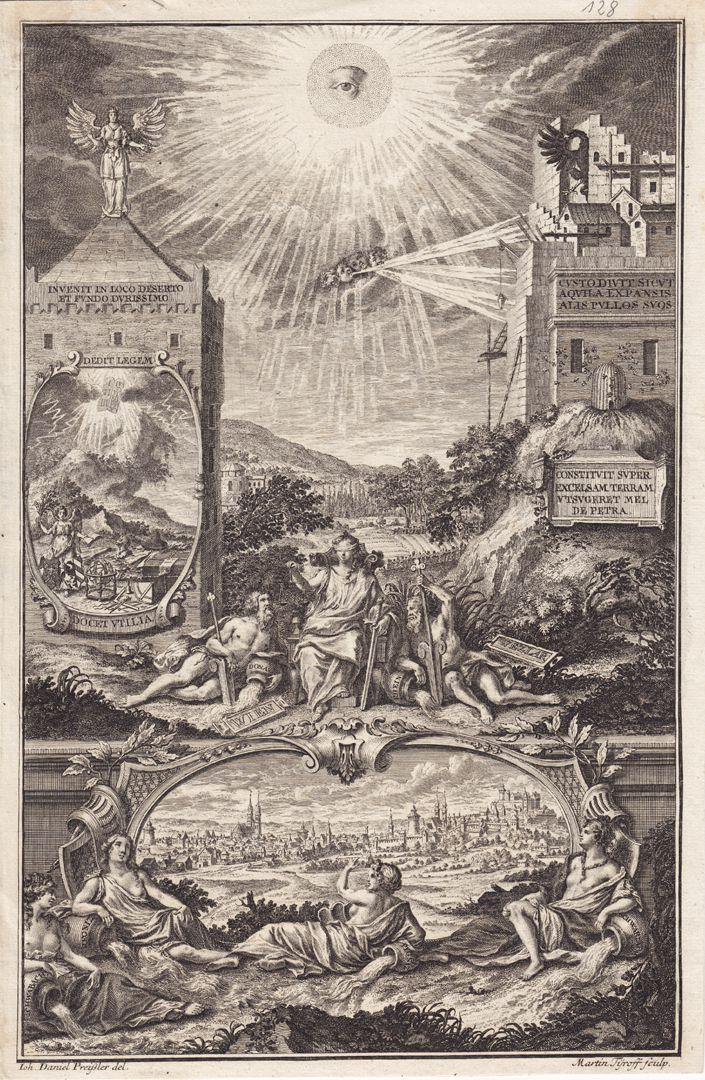 Emblematische Darstellung mit Nürnberger Ansicht Gesamtansicht