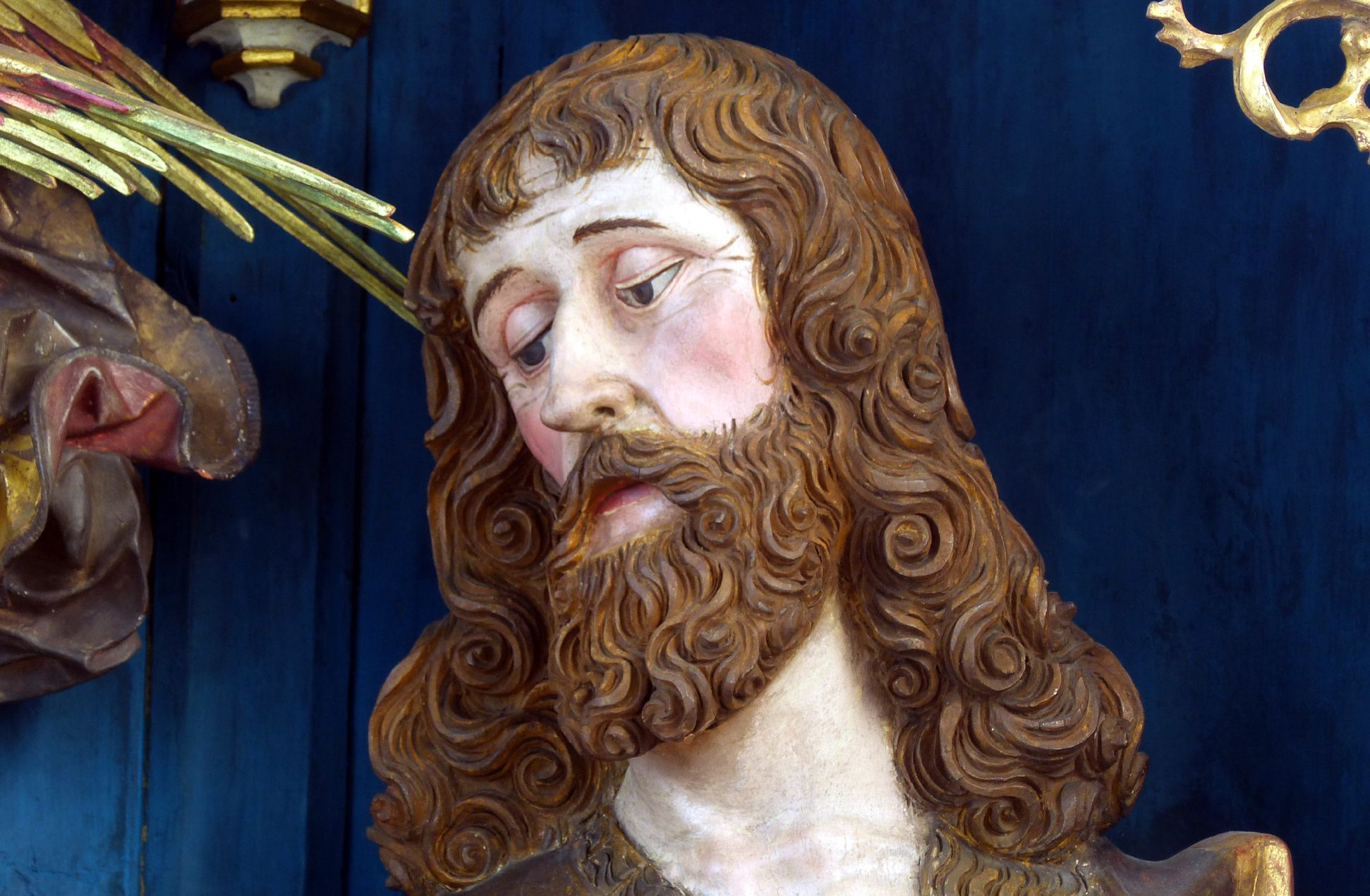 Puschendorfer Hochaltarretabel Hauptschrein, Johannes der Täufer, Kopf