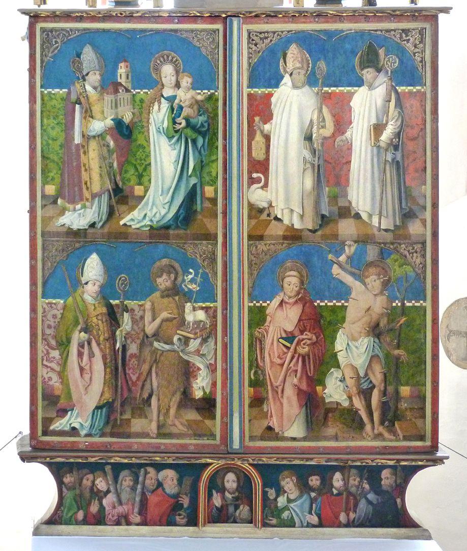 Puschendorfer Hochaltarretabel Altar mit geschlossenen Flügeln und Predella