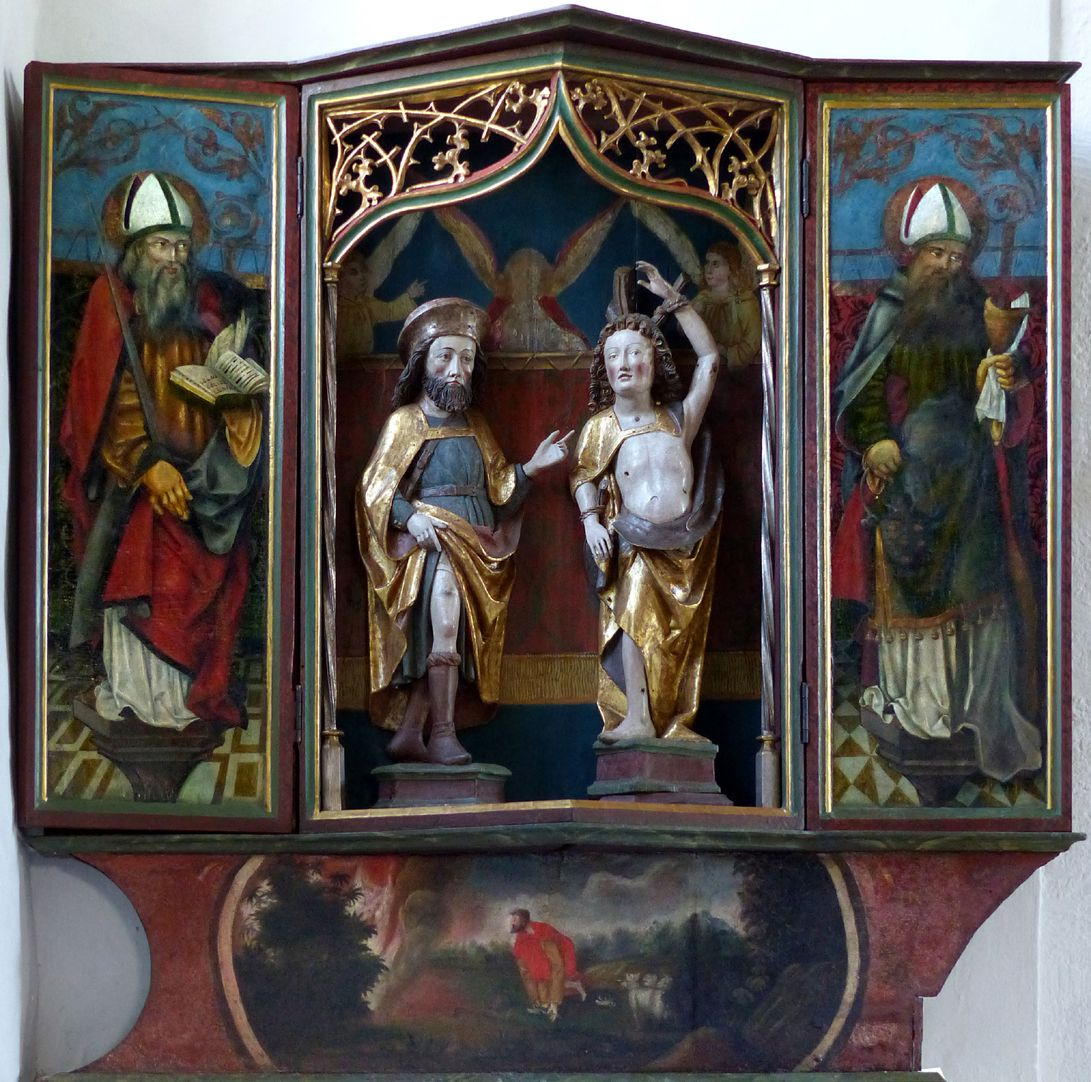 Puschendorfer Pestaltar Gesamtansicht, Bemalung der Flügel gegen 1520