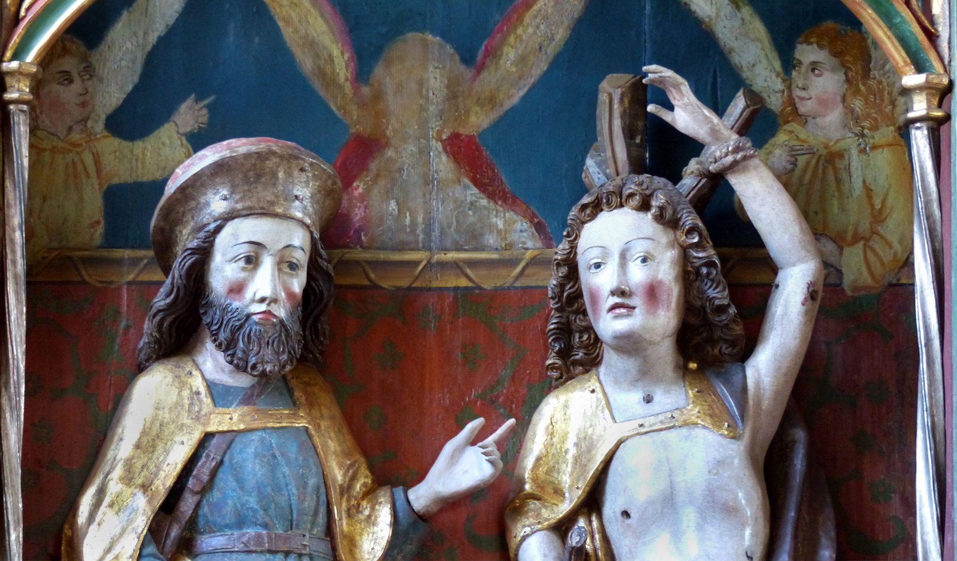 Puschendorfer Pestaltar hll. Rochus und Sebastian, Detail