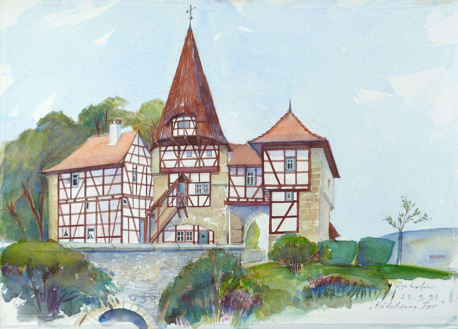 Rödelseer Tor (Iphofen) Gesamtansicht, Stadtseite