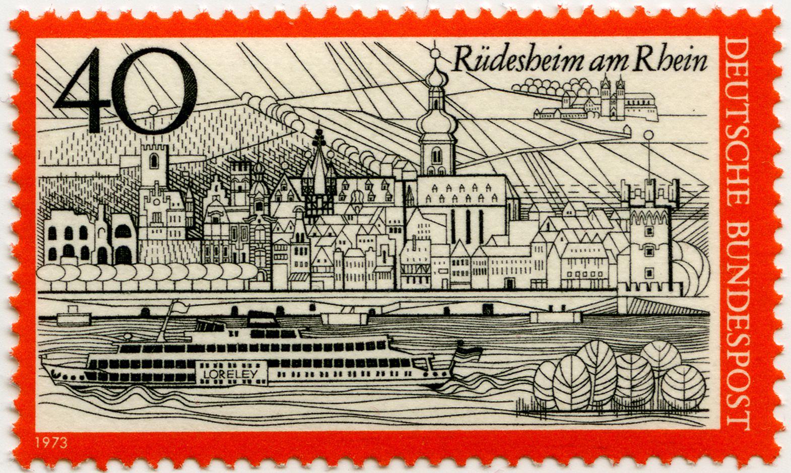 Rüdesheim an Rhein Gesamtansicht