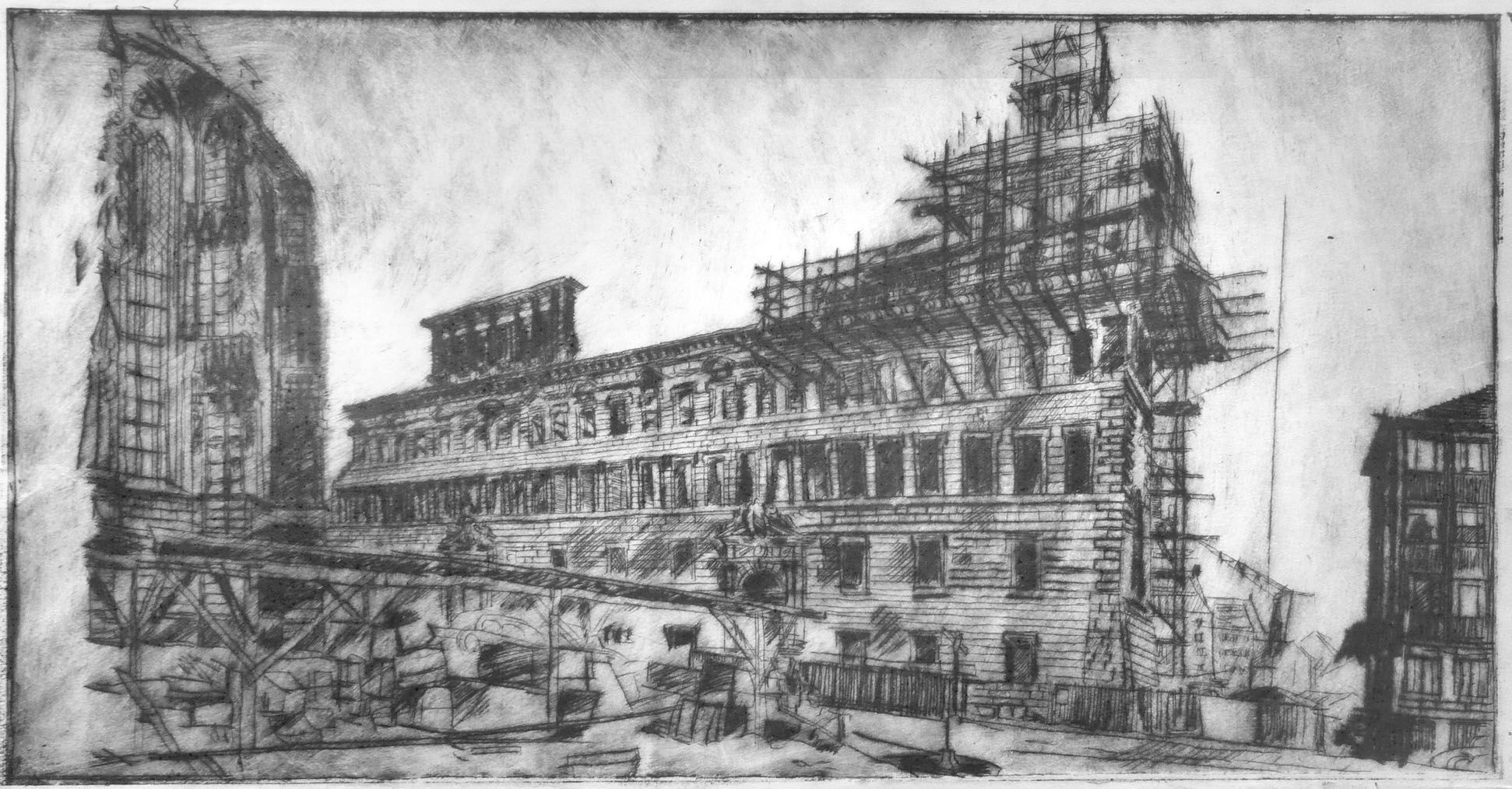 Altes Rathaus, Wiederaufbau Gesamtansicht