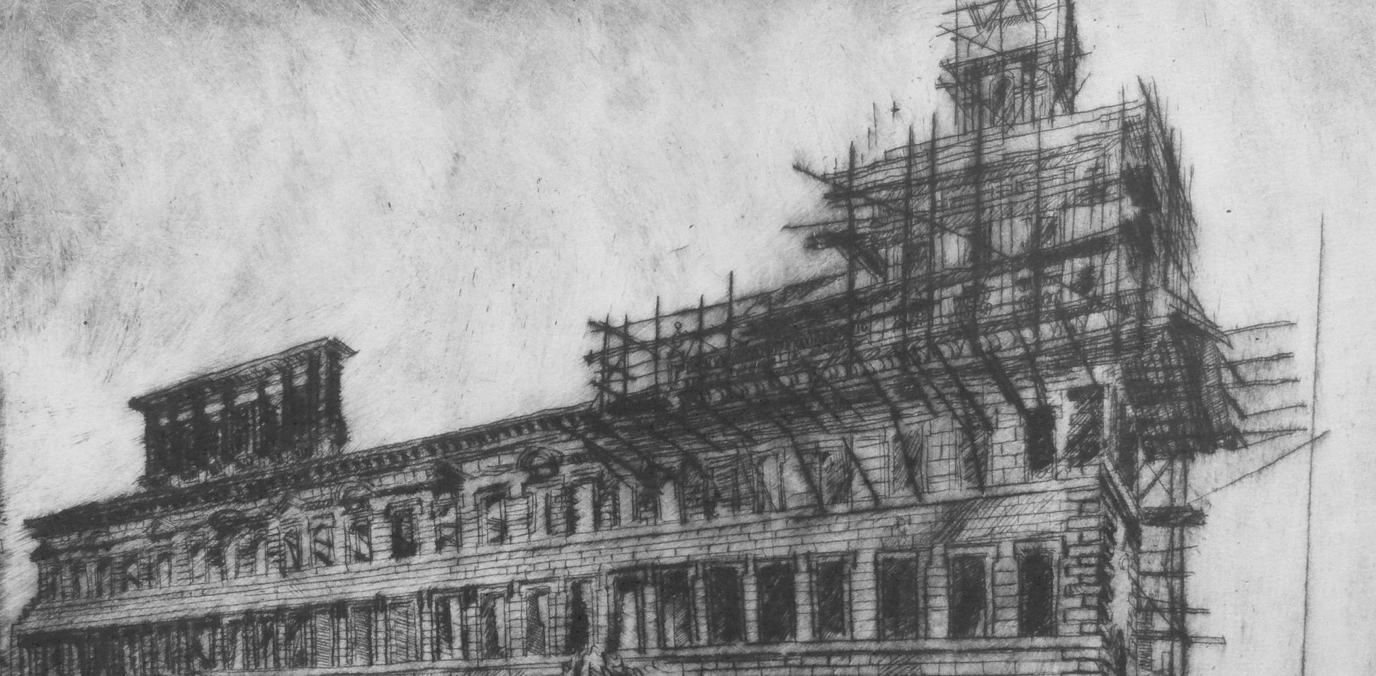 Altes Rathaus, Wiederaufbau Detail