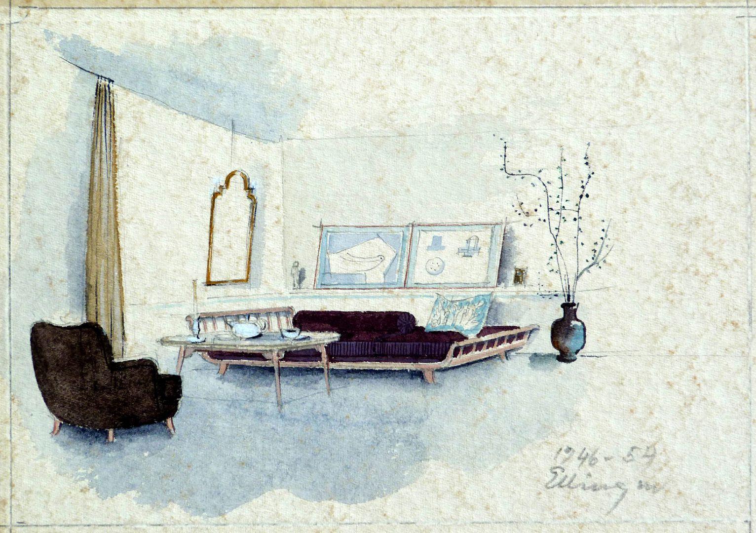 Entwurf für einen Wohnraum