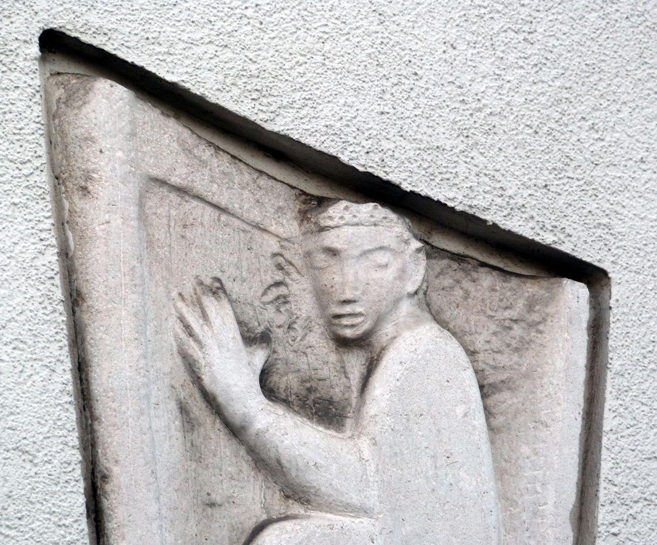 David mit der Harfe obere Hälfte