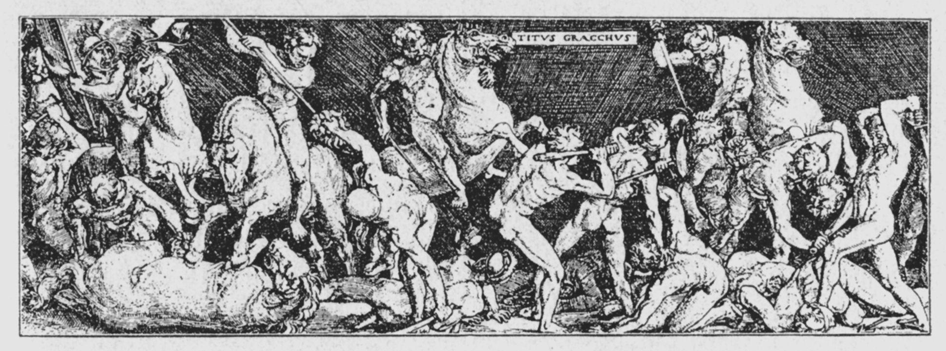 Reiterschlacht (Titus Gracchus, Detail)