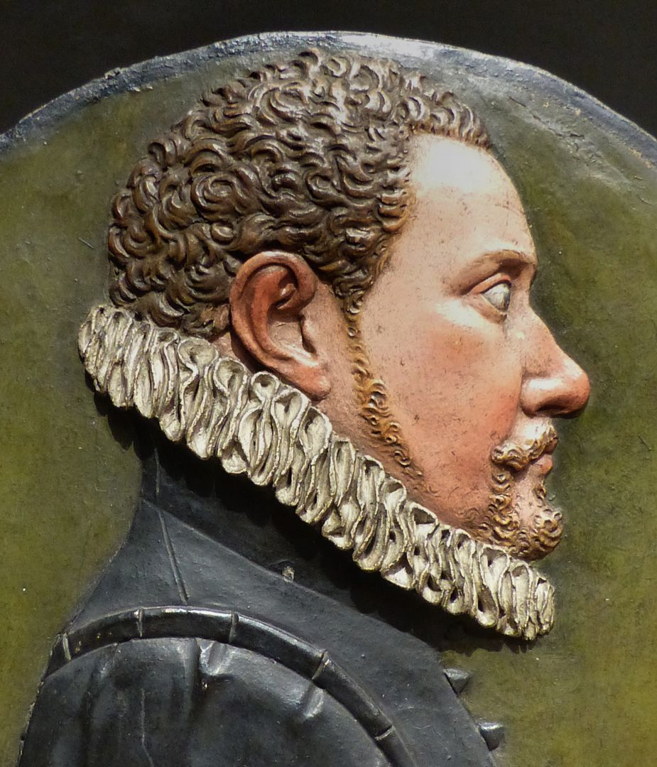 Relieftondo mit dem Portrait eines unbekannten jungen Nürnbergers Detail