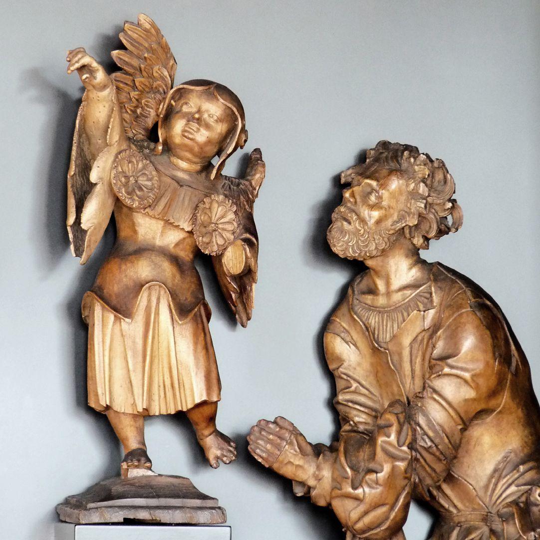 Richtergruppe Der Arme mit dem Engel, Frontalansicht, Detail
