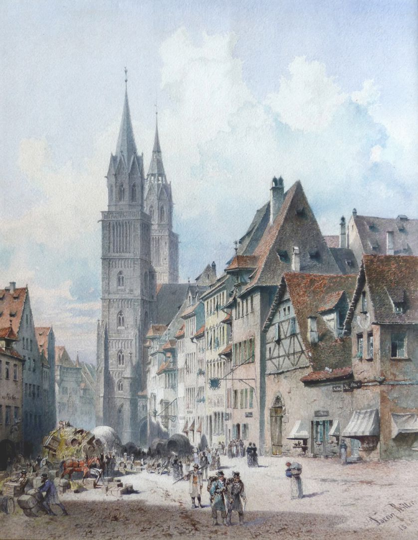 Königstraße mit Lorenzkirche Gesamtansicht