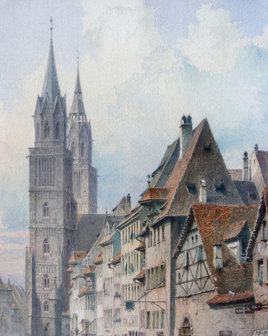 Königstraße mit Lorenzkirche obere Bildhälfte, Detailansicht