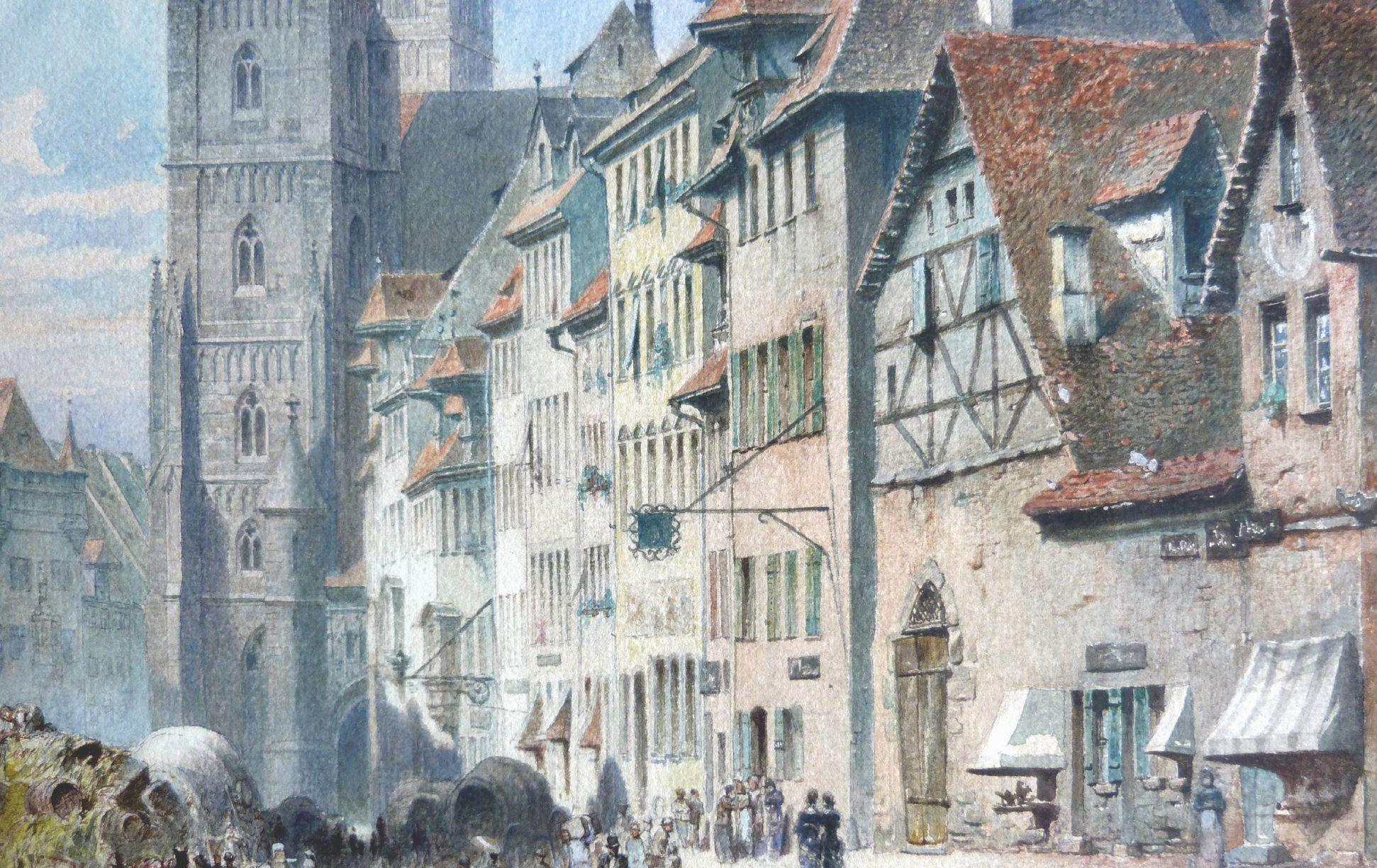 Königstraße mit Lorenzkirche Häuserzeile