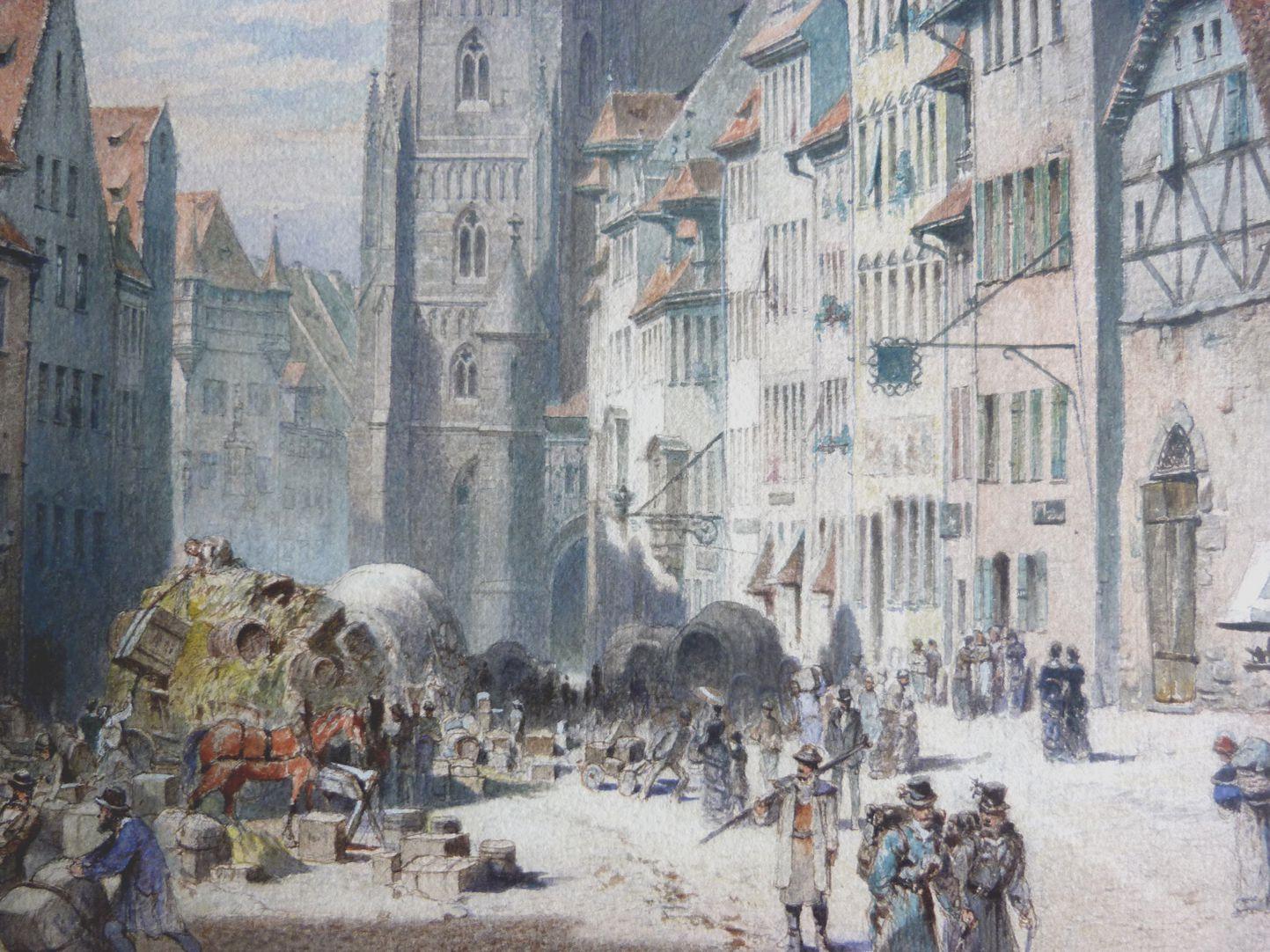 Königstraße mit Lorenzkirche Blick in die Königstraße