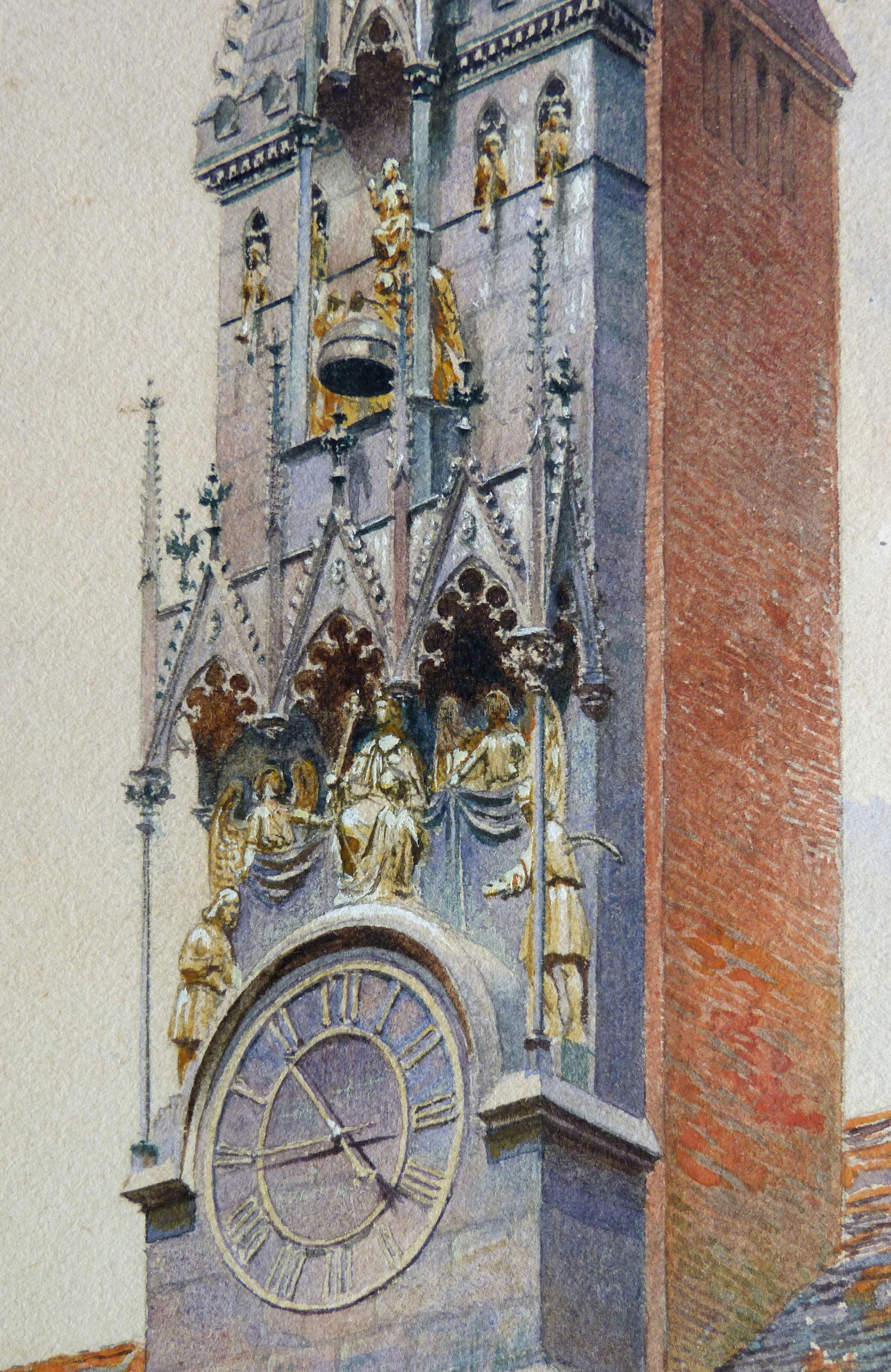 GNM, Augustinerbau, sog. Wittelsbacher Hof, mit Wittelsbacher Uhr Wittelsbacher Uhr