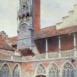 GNM, Augustinerbau, sog. Wittelsbacher Hof, mit Wittelsbacher Uhr