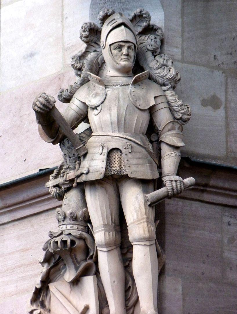 Ritter Kreß von Kressenstein Frontalansicht, Detail